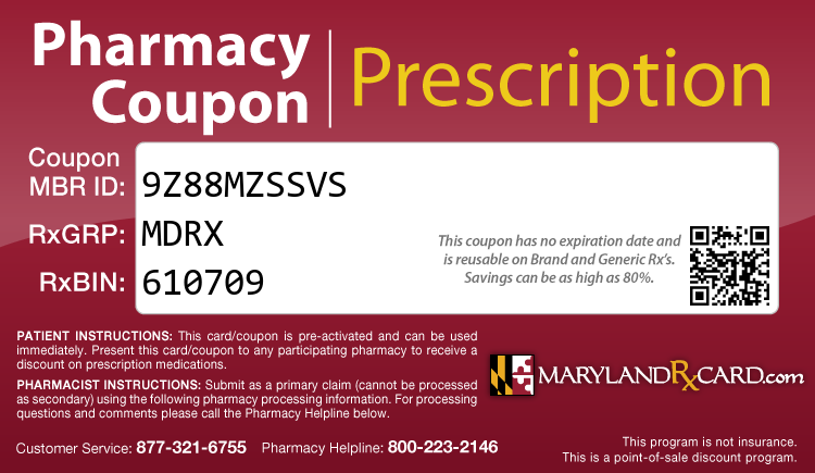 Maryland Rx Card - Free Prescription Drug Coupon Card